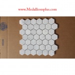 Carrara Marble Hexagon Polished Mosaic Tiles